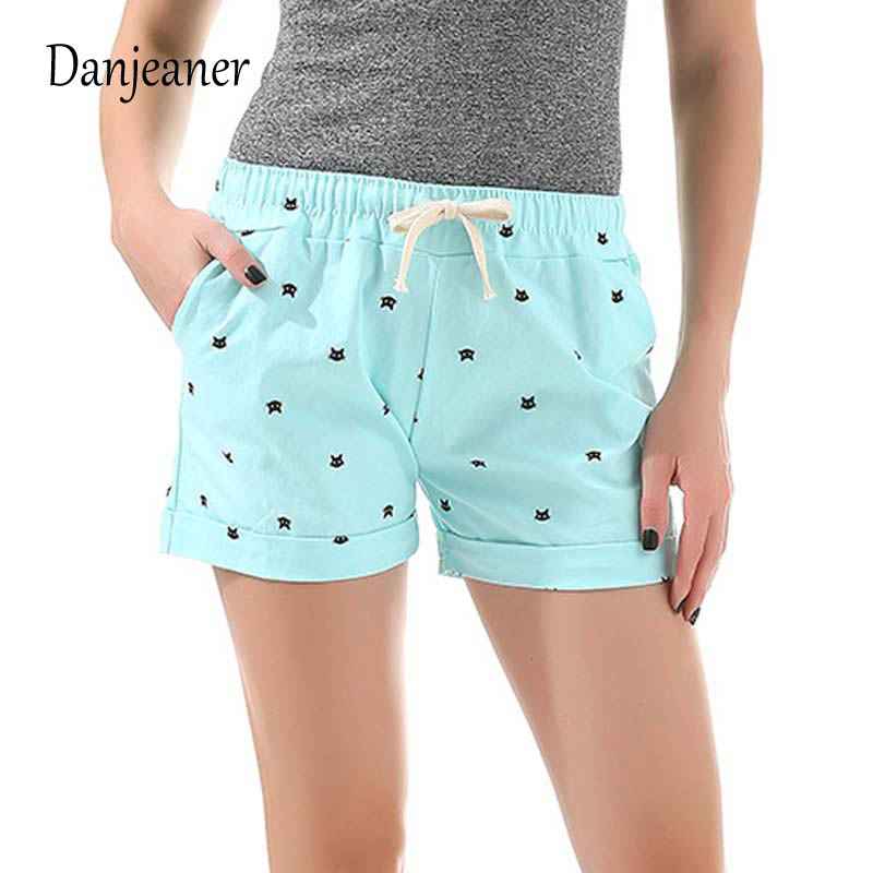 2016 Sommarstil Shorts Kvinnor Candy Color Elastic With Belt Short - Damkläder - Foto 2