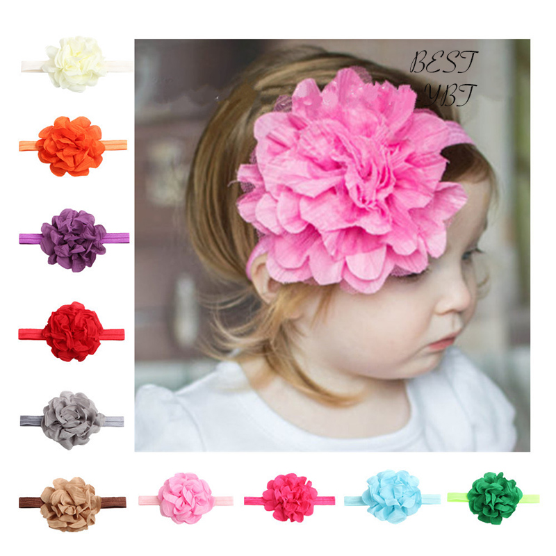 Lovely Baby Girl Elastic Hairband Children Hair Wear for Kids Head Band Big Flower Headband Baby Floral Hair Accessories delicate hot 2016 fashion baby new lovely baby kids girls mini bowknot hairband elastic headband ju15