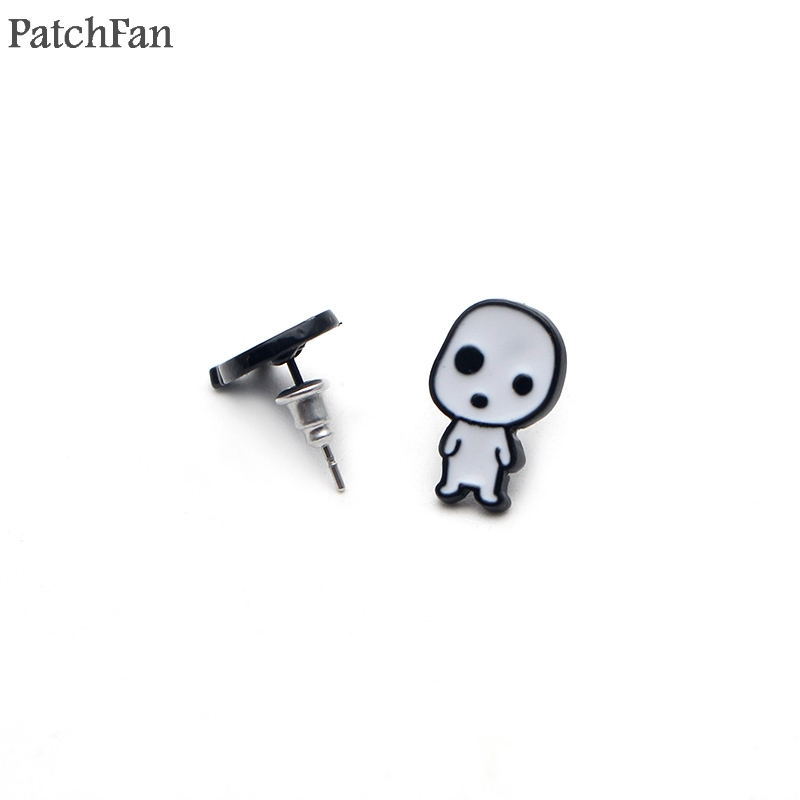 Patchfan Princess Mononoke cartoon Creative design for earrings party favors jewelry gift girlfriend birthday presents A1424