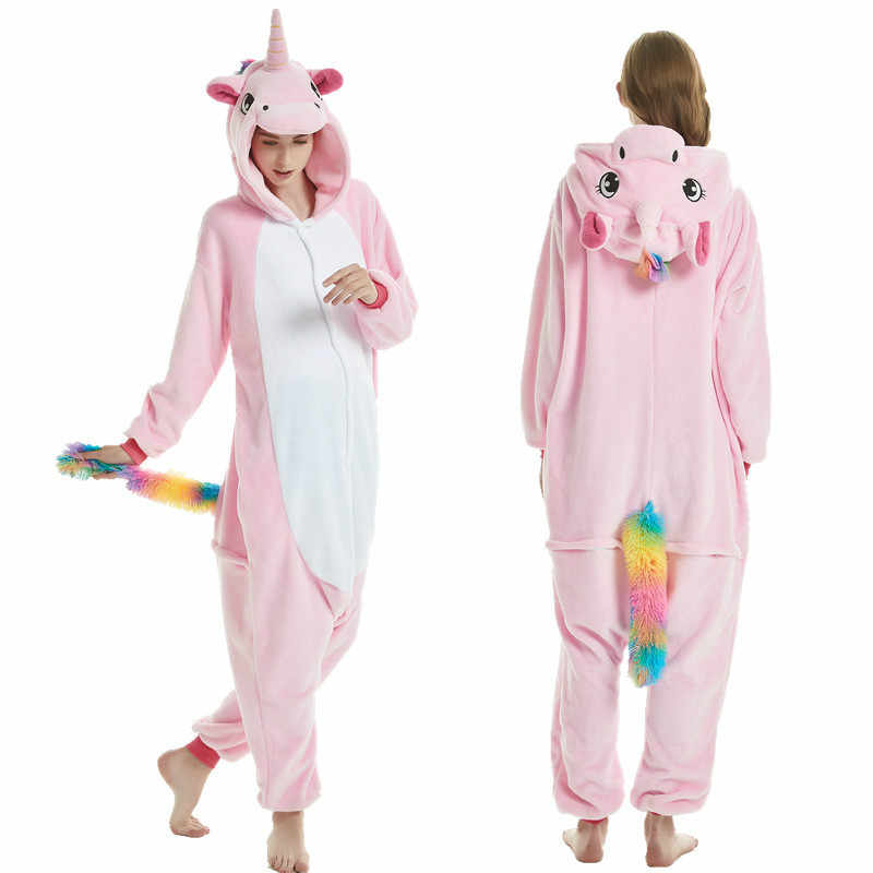 d12abed6de7a ... Boys Girls Pajamas Sets Pink Unicorn Pajamas For Women Onesie Adults  Animal Panda Stitch Sleepwear Cosplay ...