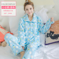 Warm Women Pajama Sleepwear Homewear Set Plus Size XXL Pajamas Coral Fleece Women Sleepwear Sweet Flannel Pajama Nighties 255