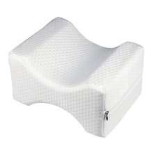 Resilience Knee Memory Pillow Pregnancy Relief Sciatic Pain for Side or Back Sleepers with Washable Case Cover