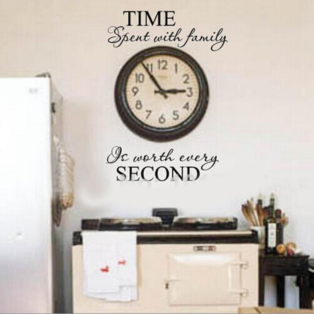 comprar tiempo con la familia cita decoracin de la pared letras de vinilo decoracin etiqueta de la pared cita arte diy murales calcomanas