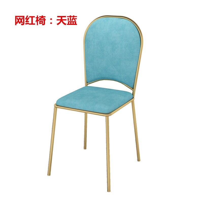 Луи мода маникюрные столики, стул se, маникюр, железный мрамор, двойной - Цвет: S7