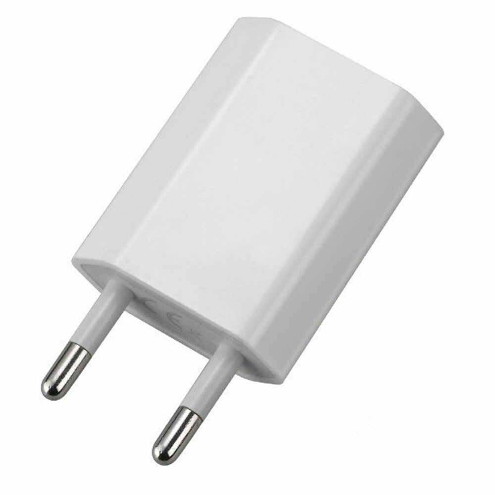 Baterai Charger Eropa USB Power Adaptor Uni Eropa Plug Dinding Travel Charger Cargador De Benacazon Recargables untuk Iphone Samsung LG