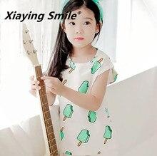 Dětské bílé tričko s obrázky zmrzliny