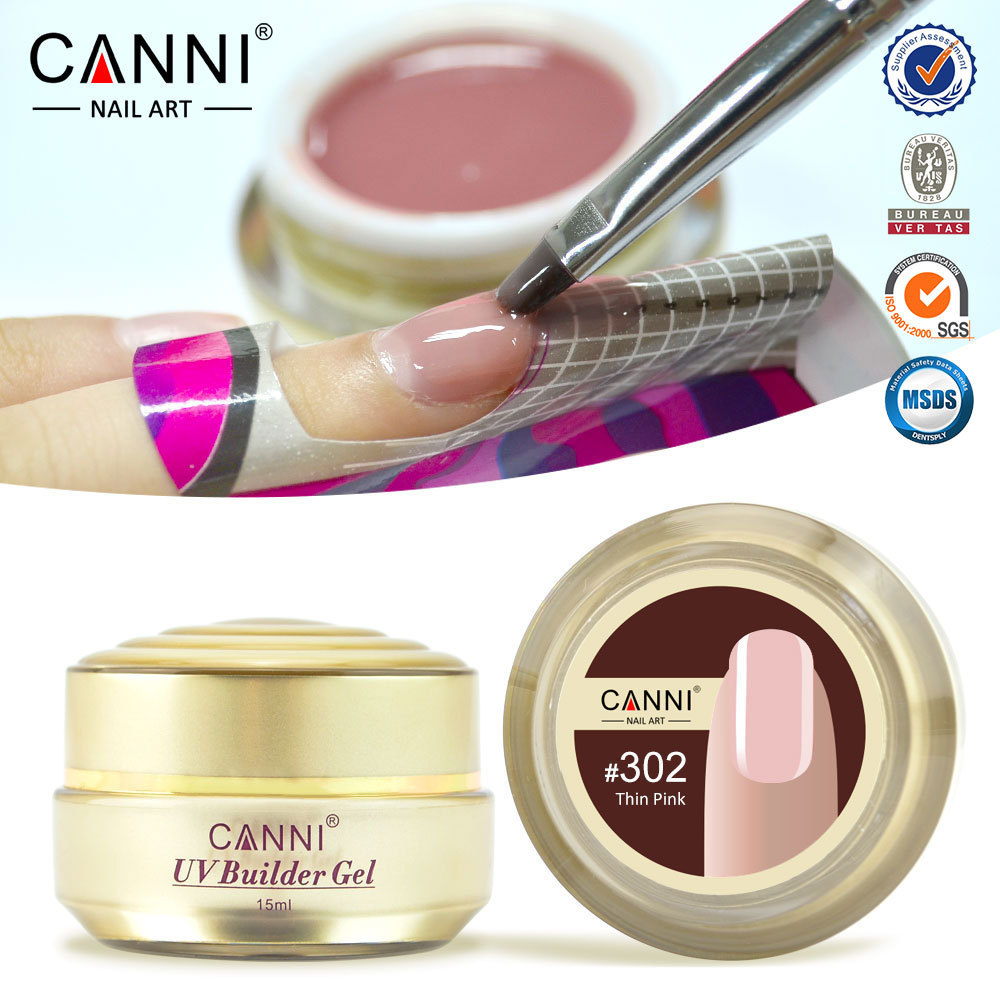 1PC CANNI Nail gel professional 15 color uv builder camouflage jelly uv gel, nails extend gels, natural Nude color uv gels 15ML