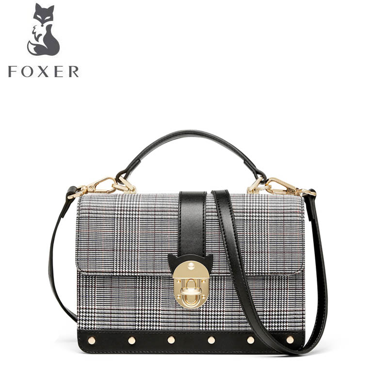 FOXER 2018 New women leather bag luxury handbags designer small bag leather shoulder bag fashion Wild women leather handbags foxer 2017 new brand women leather bag fashion casual wild women leather handbags shoulder bag quality cowhide small bag