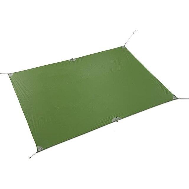 FLAMES CREED Ultralight Tarp Lightweight MINI Sun Shelter Camping Mat Tent Footprint 15D Nylon Silicone 160g Tenda Para Carro