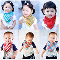1pc baby 2 side use bib pure cotton double gauze square scarf turban bandage for children square towel Baby bib christmas gift