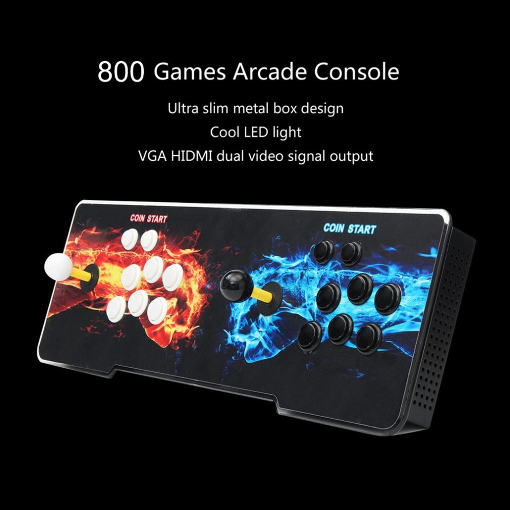 800 Games Home Multiplayer Arcade Game Console Kit Set Double Joystick Children Game Console For Home Party TV Bar 1