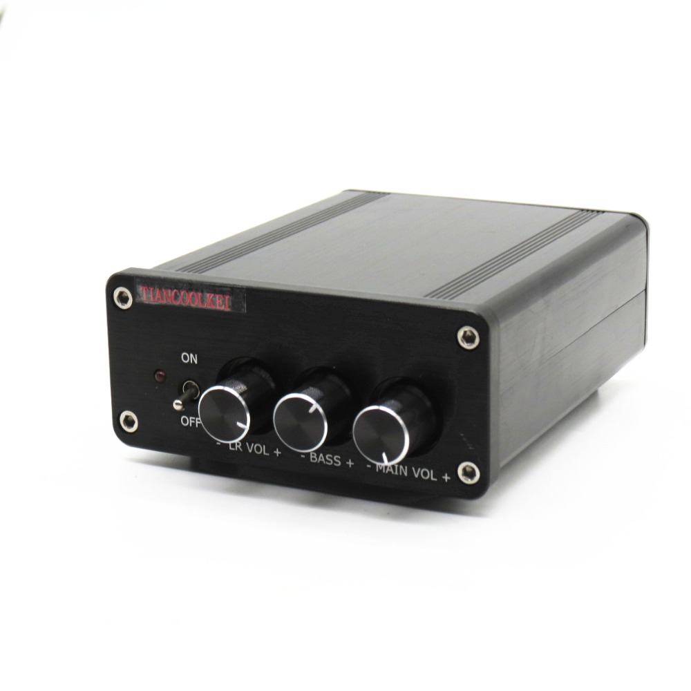 купить TIANCOOLKEI TC-TPA3116 200w Home audio and video 2.1-channel digital amplifier With 100w subwoofer output DC24 power adapter недорого