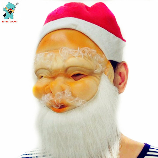 9b65347ba3d BIBIGOU High Quality Father Christmas Mask Christmas Party Supplies  Creative Santa Claus Mask 1PCS Party FestivalMasquerade