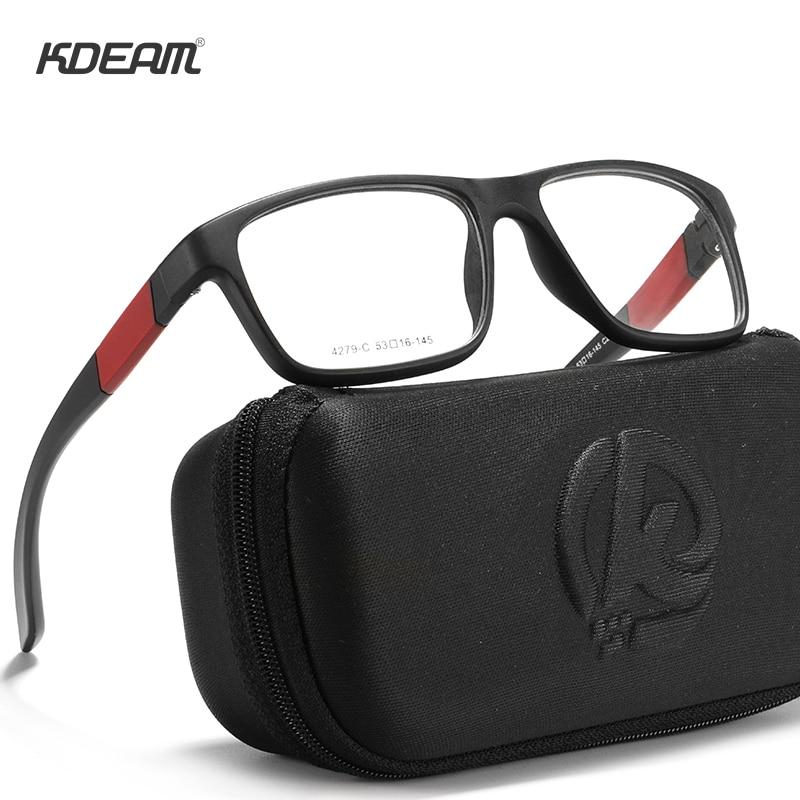 KDEAM Ultra Light TR90 Glasses Frame Outdoor Sport Eyeglasses For Myopia Lens Spectacles Eyewear