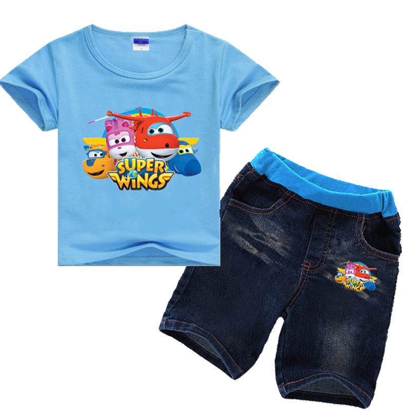 2-8Years Tiny Cottons 2018 Kids Girls Clothes Set Kid Summer Sets Super Wings Clothes Boy Summer Set Toddler Boy Summer Clothes new sma male plug connector switch uhf male plug pl259 convertor rg58 50cm 20 adapter wholesale fast ship