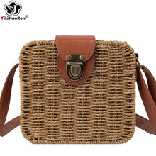 Vintage Summer Beach Bag Women Luxury Brand Handmade Rattan Woven Shoulder Straw Bag Bohemia Crossbody Bags for Women Sac A Main straw cotton rope beach bag summer crossbody bags for women 2019 handmade brand shoulder messenger shopping bag women bag