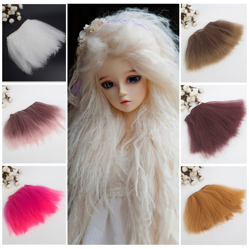 1/pcs 15/20*100cm <font><b>doll</b></font> hair kinky curly <font><b>wigs</b></font> for blyth <font><b>doll</b></font> 1/3 1/4 1/6 <font><b>1/8</b></font> <font><b>BJD</b></font> handmade <font><b>dolls</b></font> hair diy <font><b>doll</b></font> <font><b>wigs</b></font> image