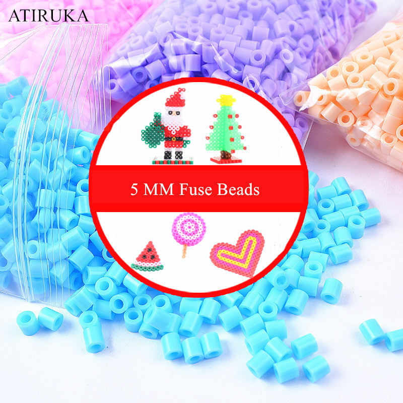 5mm Hama Beads 3D Puzzle Toys for Children Jigsaw Puzzle Perler Beads Educational Juguetes 500pcs/bag Brinquedos(China)
