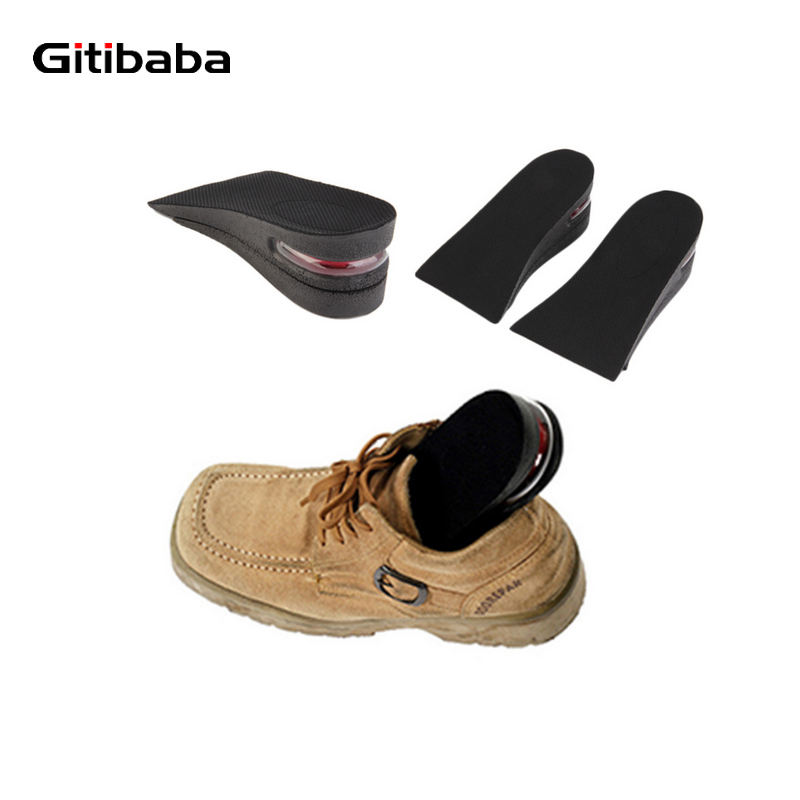 Air cushion Increasing Orthotics Insole Lift Insert Pad Height Cushion Taller Male Female Footwear Shoes Height Cushion Taller 2016 2 pcs invisible shoe taller insole 6 color increasing height short helper half lift air 2 5cm cushion insert 6 colors