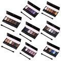 8 Colores de Sombra de Ojos Desnuda Maquillaje Shimmer Mate Sombra de Ojos Color de Tierra de Sombra de Ojos Paleta Cosmética Set de Maquillaje (embalaje del cartón)