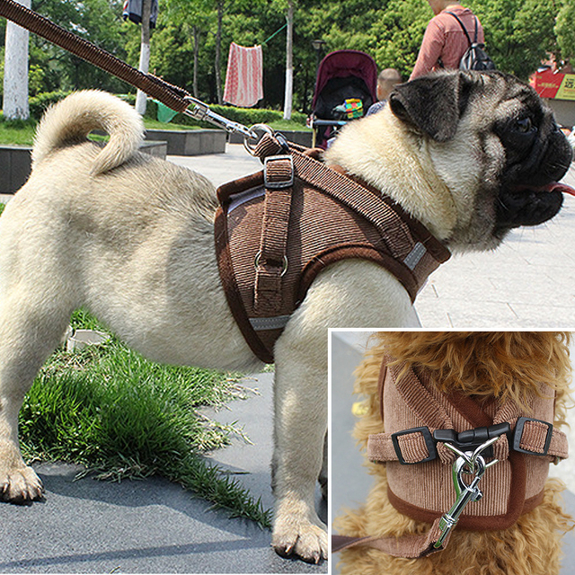 Pet Dog Cat Harness with Leash Adjustable Vest Walking Supplies Soft Breathable Collar Puppy for Small Medidum Large Dogs 4