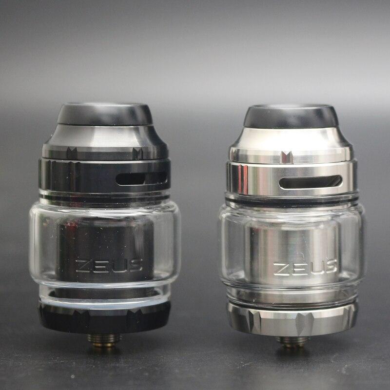 Hohe qualität Zeus X RTA 4,5 ml Kapazität Tank Für Single/dual Coil Gebäude E-cig Tank mit 810 Delrin Tropfspitze