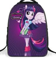 2016 Cute School Bags For Teenagers Girls Pony Horse Twilight Sparkle Backpack Kids SchoolBags Children Mochila