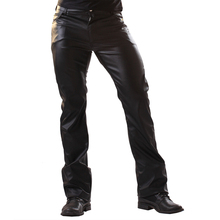 ชุดชั้นในบุรุษ Wetlook Slim Fit เงาสิทธิบัตรหนัง PVC Latex ไนท์คลับแน่นกางเกง Leggings กางเกงเปิดอวัยวะเพศชาย Hole