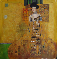 Modern artwork oil painting reproduction Adele Bloch Bauer I 1907 by Gustav Klimt painting for wall