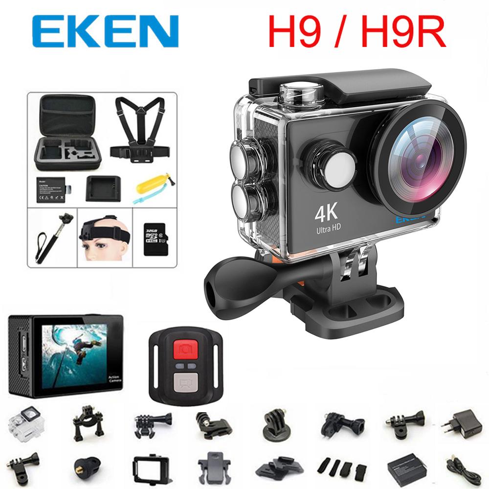 Prix pour D'origine 100% EKEN H9/H9R D'action caméra Ultra HD 4 K WiFi 1080 P/60fps 2.0 LCD 170D lentille Casque Cam étanche pro sport caméra