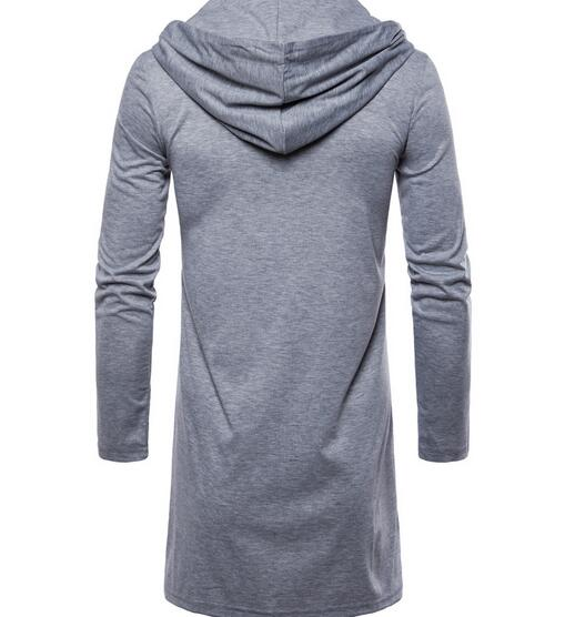 HTB1nCpWdi6guuRjy0Fmq6y0DXXay 2018 European fashion hooded cardigan casual European and American style solid color long-sleeved thin