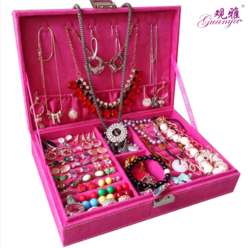 Fashion and noble Lovely princess suction box Korean style jewelry box ring box earrings birthday gift noble style page 5