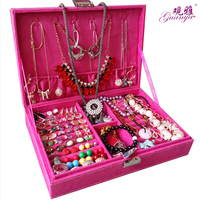 Fashion and noble Lovely princess suction box Korean style jewelry box ring box earrings birthday gift