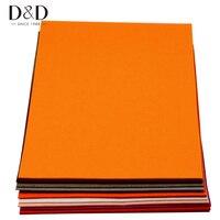 Willekeurige Kleur 4 stks Super Grote Non-woven Vilt 3mm Dikte Polyester Doek Felts DIY Craft Naaien Decoratie 65*45 cm