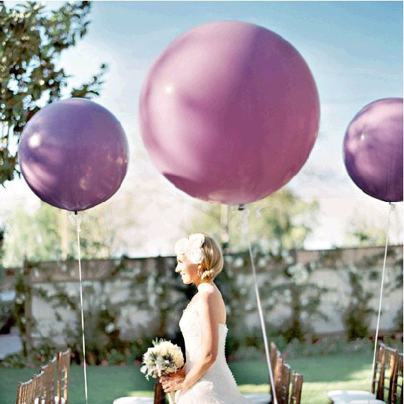 36 Inch Giant Balloon Colorful Blow Up Ball Balloon Helium Inflable Latex Big Balloon For Birthday Party Decoration Kids Baloon