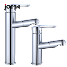 Toilet whole copper main body pulls faucet lavatory basin below the stage basin can retractable rise and fall rotates cold hot decline and fall stage 6