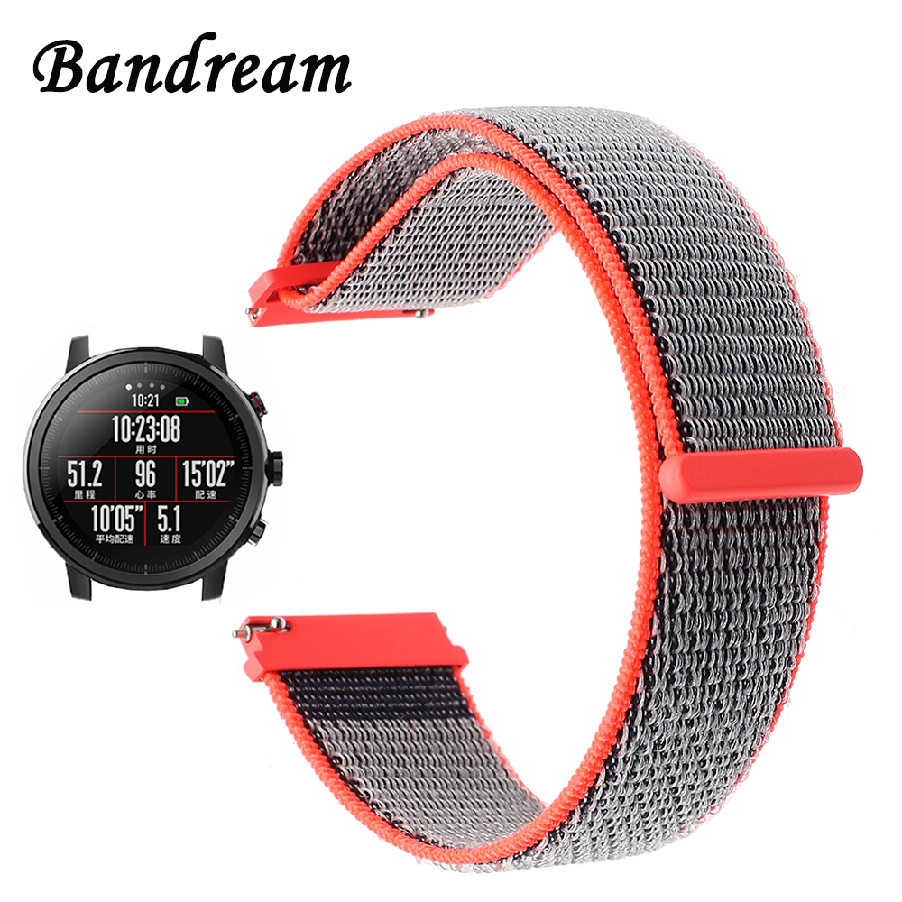 Milanese Loop Nylon Watchband 22mm for Xiaomi Huami Amazfit 1 / 2 / 2S Watch Band Quick Release Strap Sport Belt Wrist Bracelet survival nylon bracelet brown
