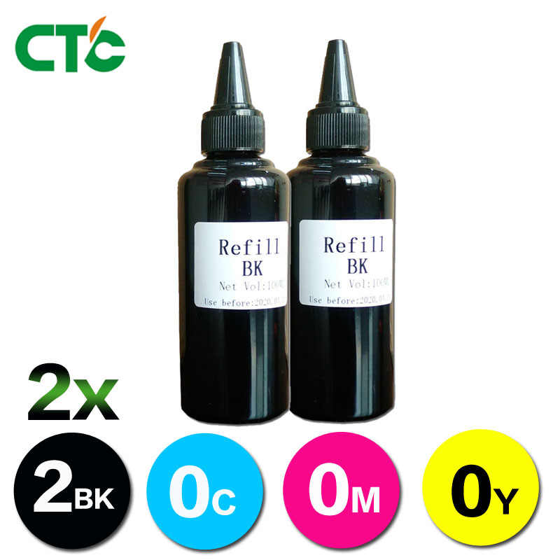 2 Black Tinta Printer Tinta Isi Ulang Kit untuk Printer Inkjet Printer Canon Printer untuk CISS Sistem Isi Ulang 100 ml Bulk Ink