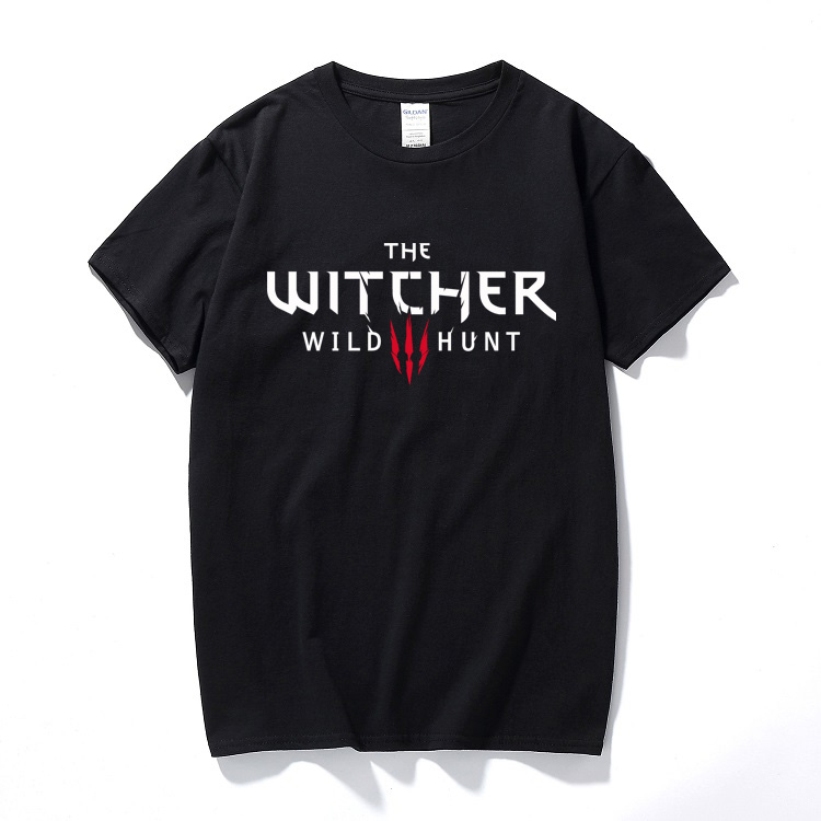 The Witcher 3   T     Shirt   Summer Men Women Cotton Short Sleeve the witcher   t  -  shirt   Geralt de Riv Men Clothing Tops Tee