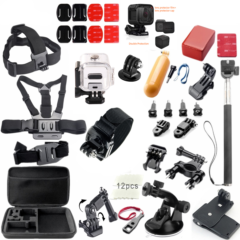 For Gopro hero 5 Session Accessories Set waterproof case Selfie Stick for Gopro Session Gopro 5 Session Gopro hero 4 Session gopro hero session black экшн камера