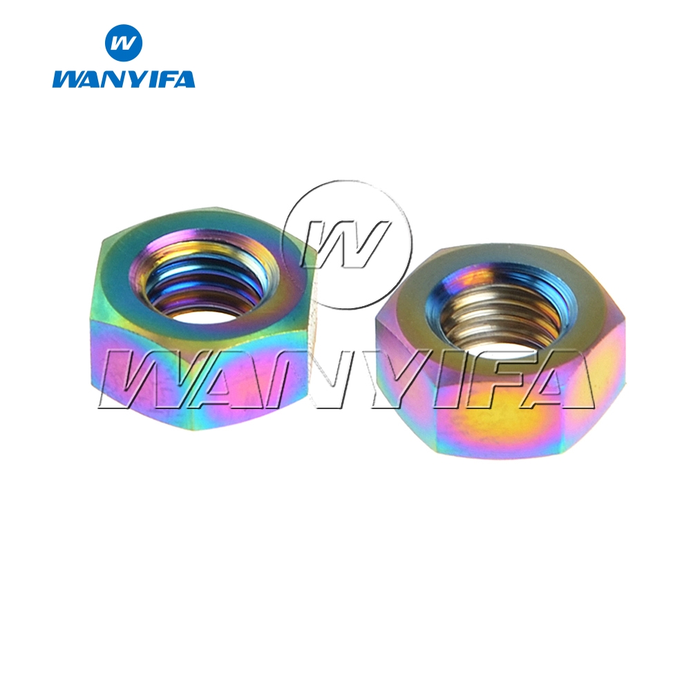 Wanyifa 2Pcs M8x1.25mm Flange <font><b>Nut</b></font> for Bicycle <font><b>Stem</b></font> <font><b>Bike</b></font> Part image