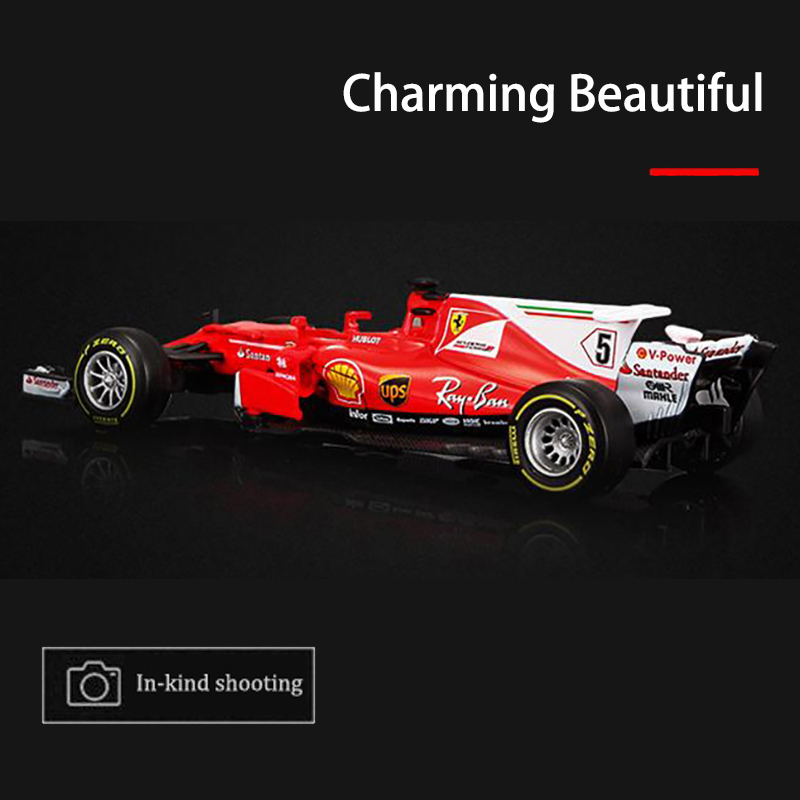 70th Anniversary Edition 1:43 F1 Formula 1 Racing Car Model 2017 SF70H Simulation Diecast Car Model for Collection Alloy Metal
