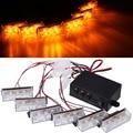 6 x 3 LED Car truck Flash Light Strobe Emergency Flashing Amber For Deck