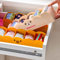 1pcJapanese-style 5 Grids Socks Underwear Drawer Classified Storage Box Finishing Cosmetic Desktop Plastic Box Organizer
