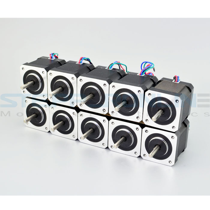 Special offers! 10 PCS Nema 17 Stepper Motor Bipolar 2A 1.8deg Huge Torque 59Ncm(84oz.in) 42x42x47mm for 3D Printer robot cnc цены