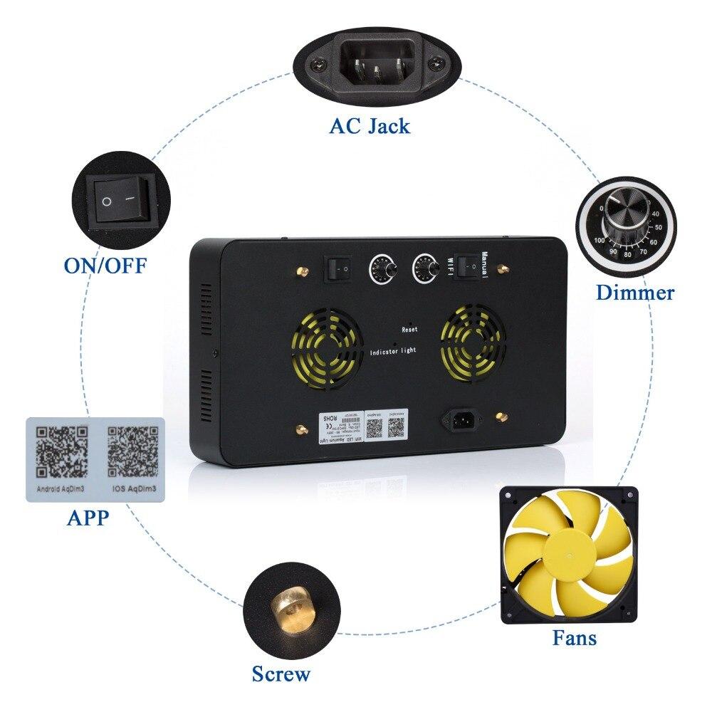 ABŞ-da Çin 165w WIFI Dimmable LED Akvarium İşığı Tam spektrli - Professional işıqlandırma məhsulları - Fotoqrafiya 6