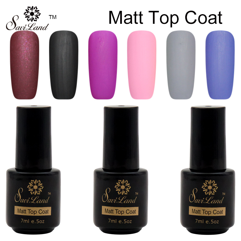 ᗖSaviland 1pcs Matte Matt Top Coat Nail Polish Soak Off Cleaning UV ...