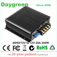 40 90 に 12V 13.8V 20A (48 に 12V 、 60 に 12V 、 72 に 12V 20A) 240 ワット DC DC ステップダウンコンバータ Ce RoHS