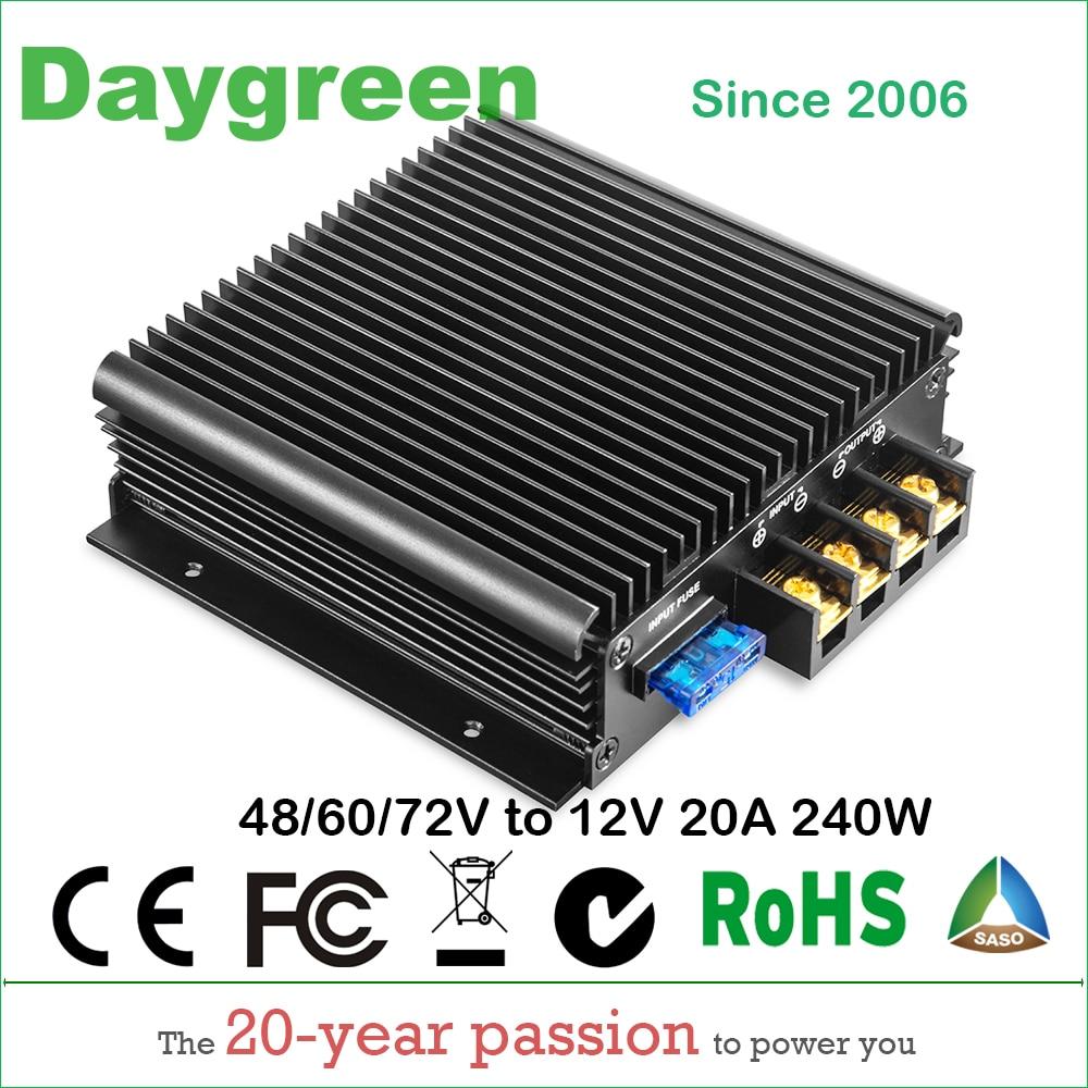 40-90V TO 12V 13.8V 20A (48V to 12V, 60V to 12V, 72V to 12V 20A) 240W DC DC Step Down Converter CE RoHS