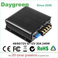 40 90V TO 12V 13.8V 20A (48V to 12V, 60V to 12V, 72V to 12V 20A) 240W DC DC Step Down Converter CE RoHS